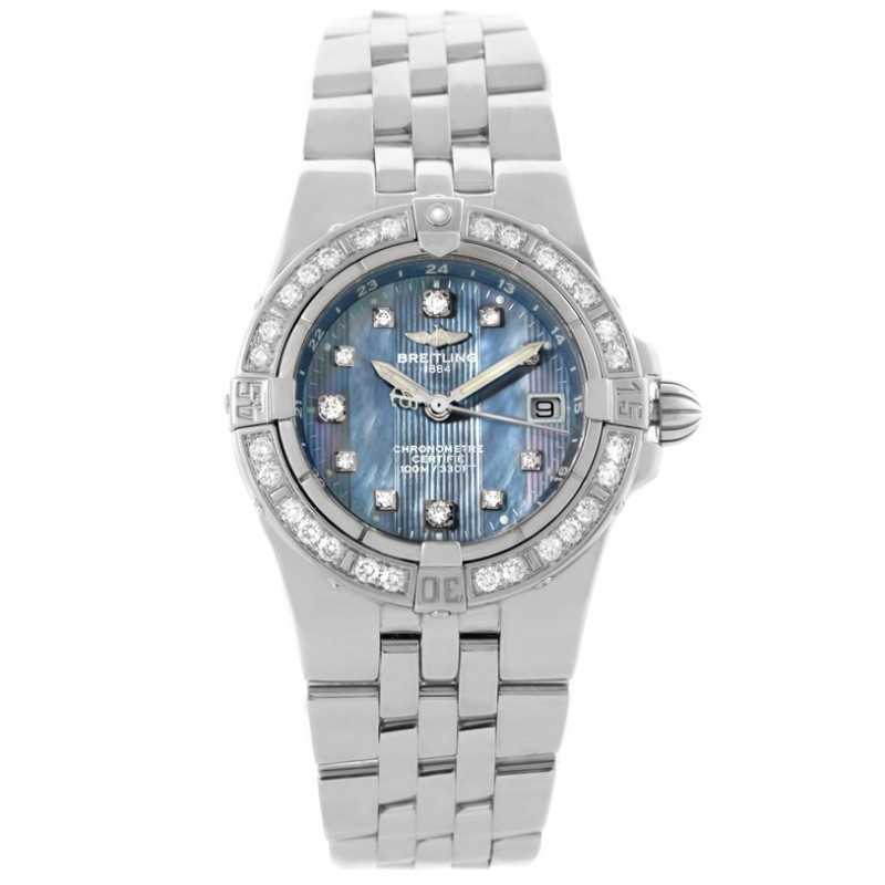 Breitling Starliner Ladies Blue Mother of Pearl Diamond A71340
