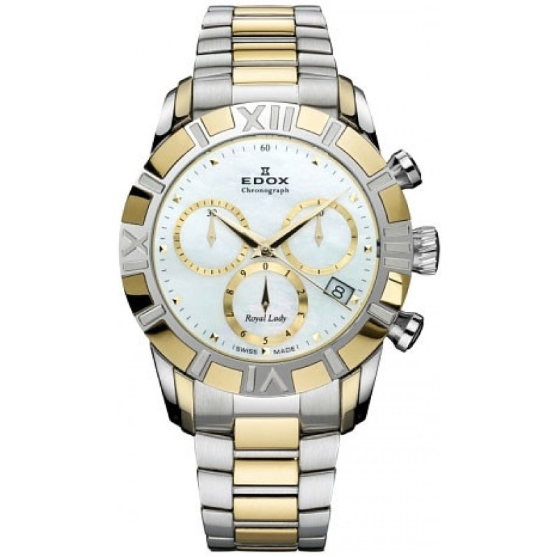 Edox Royal Lady Chronolady 10406 357J NAID