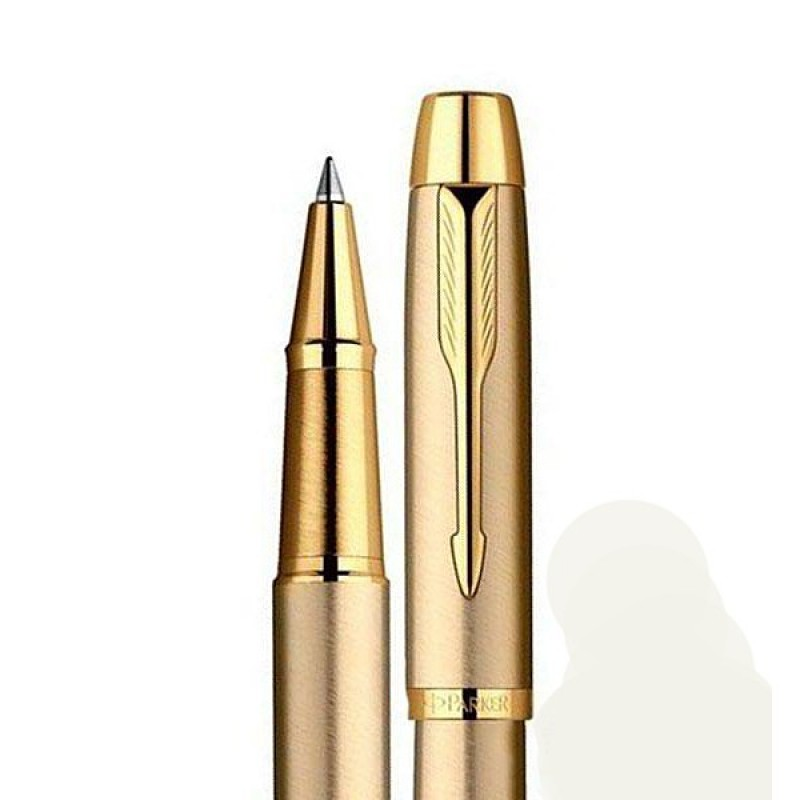 Ручка роллер Parker IM Brushed Metal Gold GT RB 20 322G